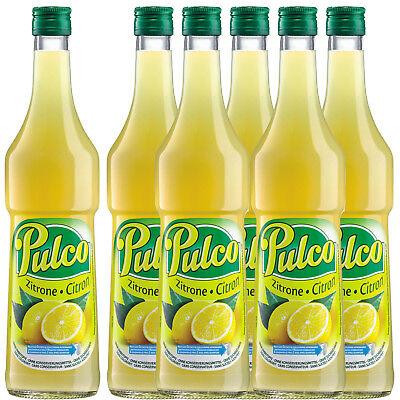 Pulco Zitrone Zitronenkonzentrat Zitronensirup Zitronensaft 6 x 0,7 l Konzentrat ()