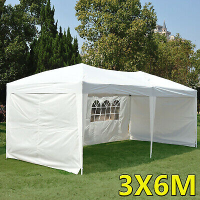6M x 3M Waterproof Outdoor Garden Gazebo Marquee Canopy Party BBQ Wedding Tent