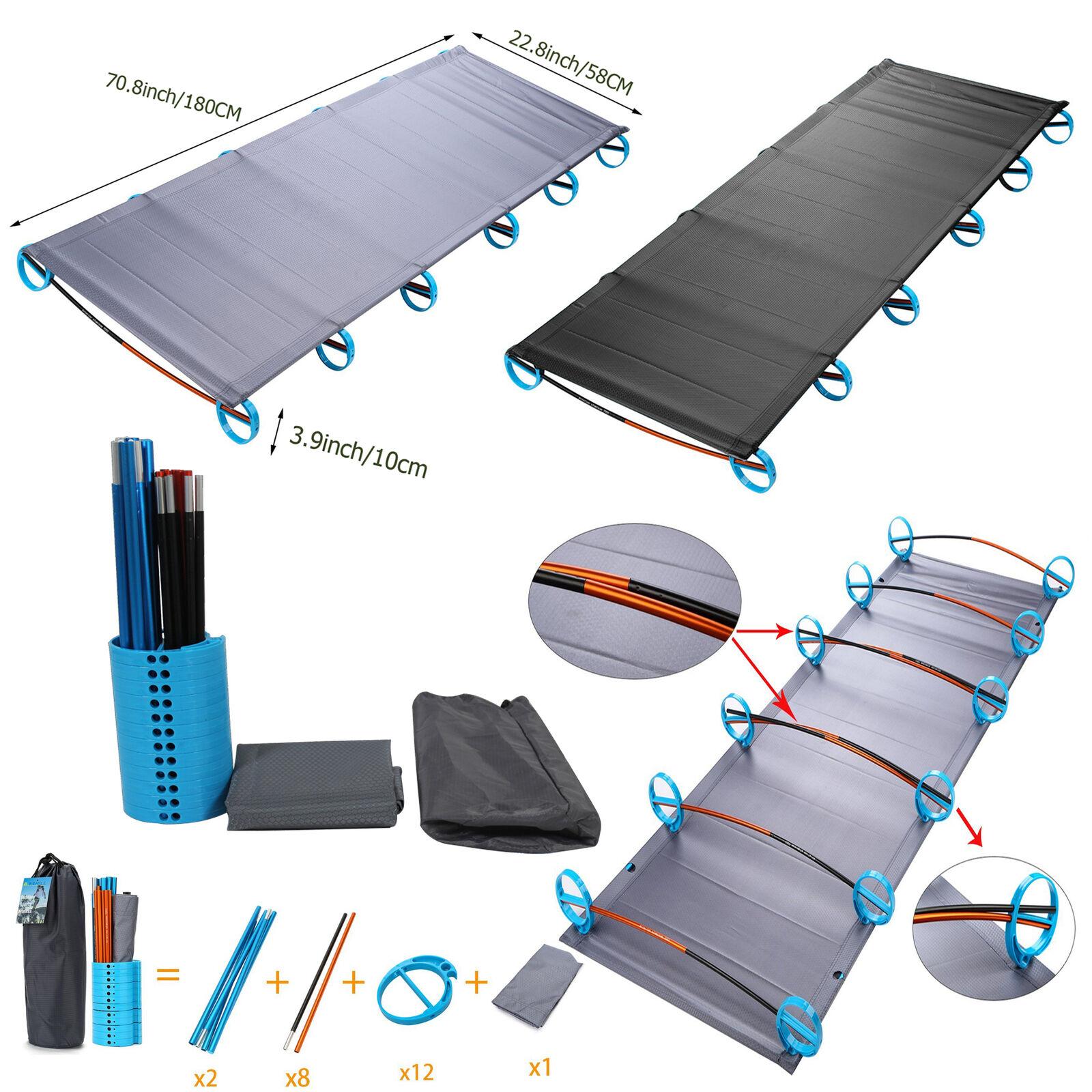outdoor portable folding camping cot ultralight aluminium
