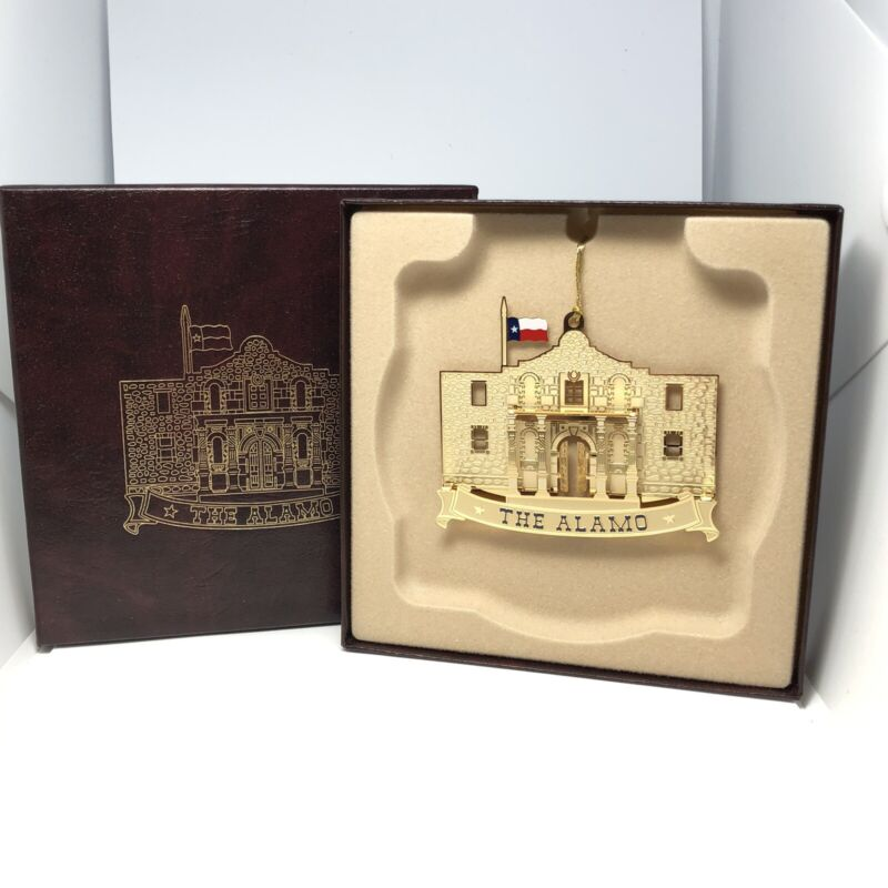 2002 Texas Capitol Ornament The Alamo Original Box