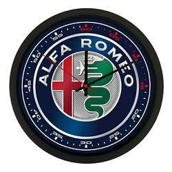 Wall Clock Wall Alfa Romeo Biscione Car Motorbike Collection Quadrant
