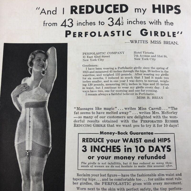 Vintage 1932 PERFOLASTIC FASHION Garments Corset Girdle Lingerie Print Ad 30