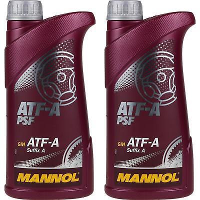 2x1 Liter Original MANNOL Hydrauliköl ATF-A PSF Hydraulic Fluid Oil