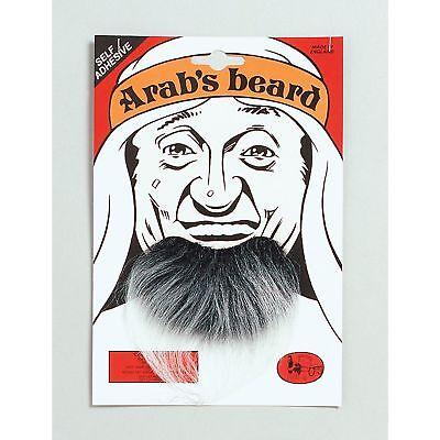 FAKE STICK ON GREY GOATEE ARAB BEARD Mens Fancy - Fake Grey Beards