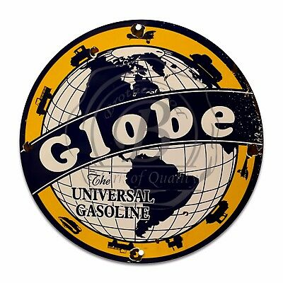 Vintage Design Sign Metal Decor Gas and Oil Sign - Globe The...