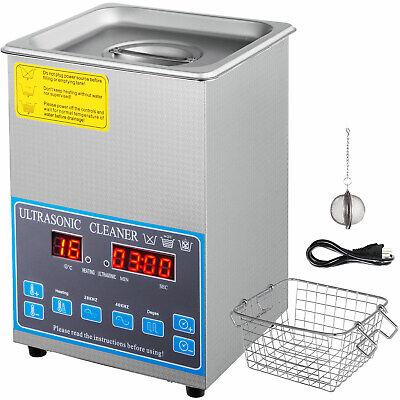 2l Liter 2840khz Ultrasonic Cleaner Stainless Steel Heater Wtimer Degas Lab