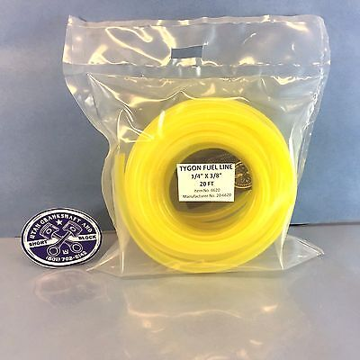 "NEW TYGON YELLOW FUEL LINE HOSE 1/4"" PRE-CUT 20 FT SEA-DOO KAWASAKI YAMAHA"