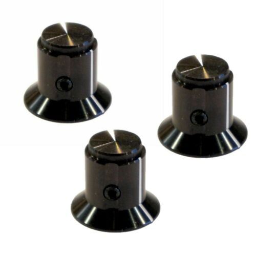 """(3) Pack of Tyco Aluminum Fluted Knob for DIY Guitar Effects Pedals 1/4"""" Shaft"""
