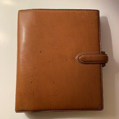 Filofax A5 Bridle Tan Italian Leather Organizer Planner