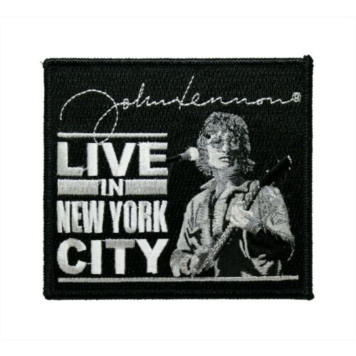 The Beatles Live In New York Embroidered Iron On Patch - Licensed 075-T