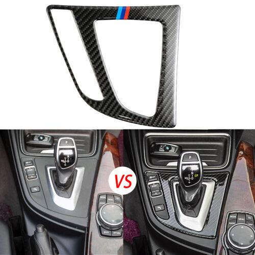 /// Color Carbon Fiber Gear Shift Panel Interior Trim Sticker For BMW 3 4 Series
