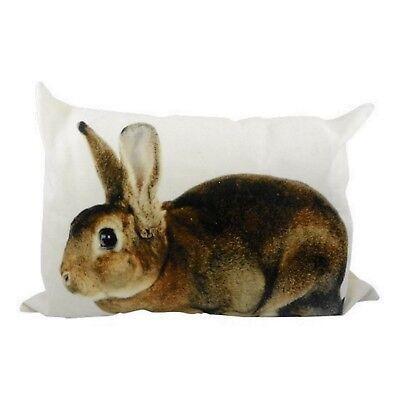 Zierkissen Hase Kaninchen Dekokissen Rabbit Sofakissen mit Inlett Kissen 50x35cm