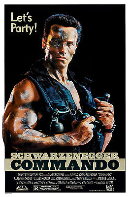 COMMANDO Movie Poster 1985