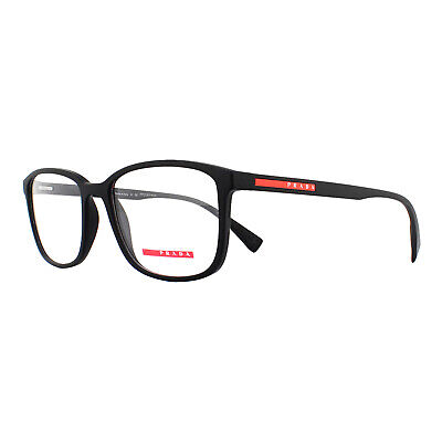 Prada Sport Glasses Frames PS04IV DG01O1 Black Rubber 55mm