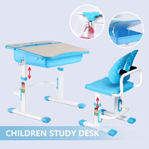 Adjustable Children's Study Table Desk Chair Set Child Kid O