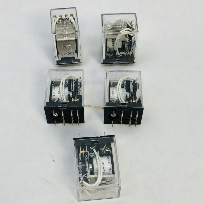 LOT OF 5 OMRON MY4-02 RELAY - 14 PINS
