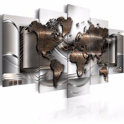 5Pcs Set World Map Large Modern Art Canvas Print Art Picture Home Wall Decor