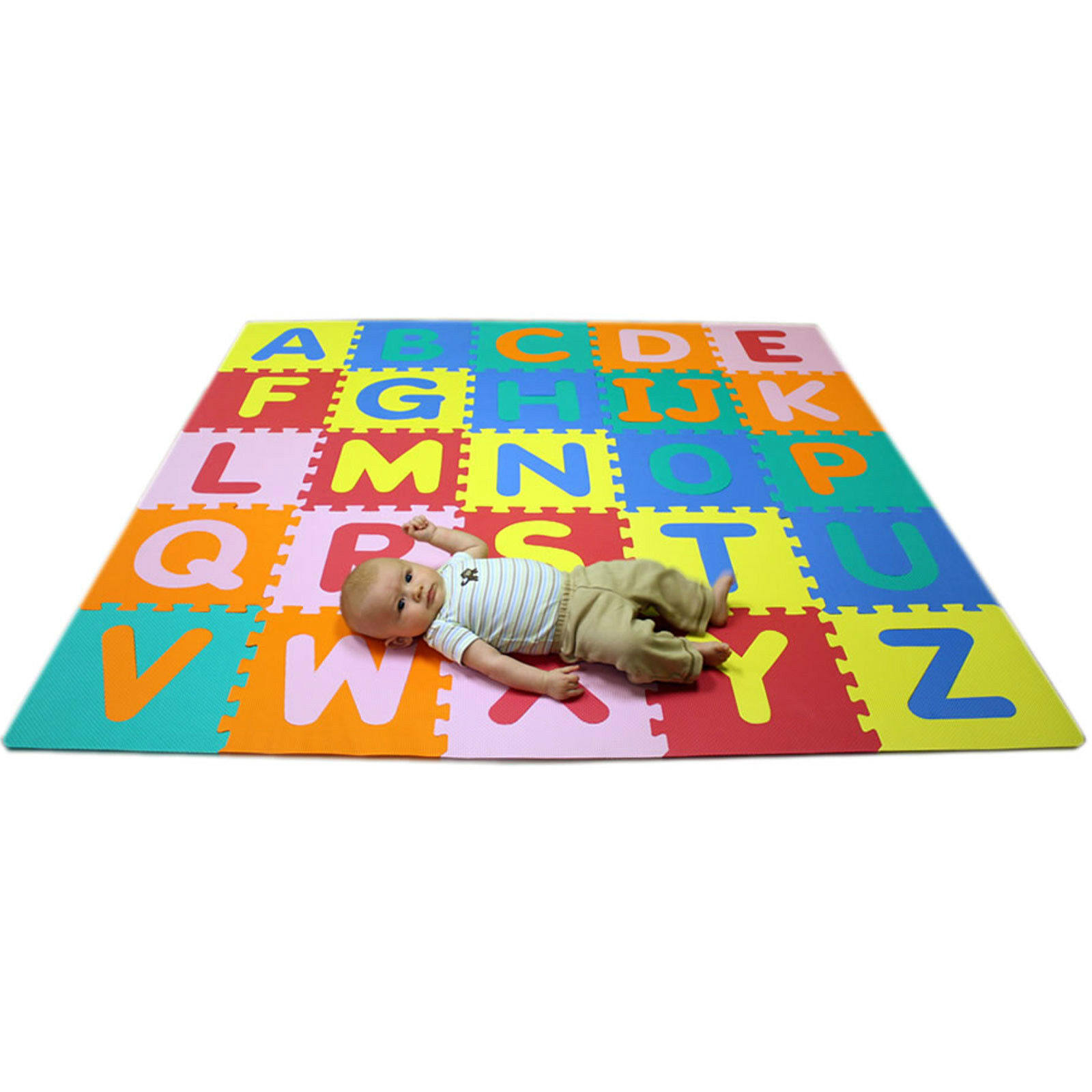 Rubber floor mats baby - Abc Foam Kids Baby Childrens Puzzle Play Interlocking Flooring Mats