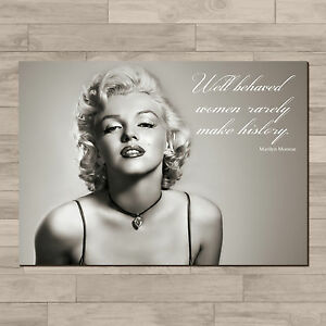 Marilyn Monroe. Inspirational quote. A4 Canvas paper ...