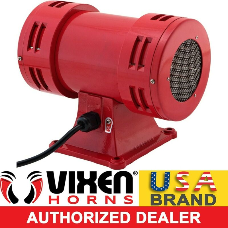 INDUSTRIAL ELECTRIC MOTOR AIR RAID SIREN SCHOOL/FACTORY/ALARM 120V VXS-1050AR