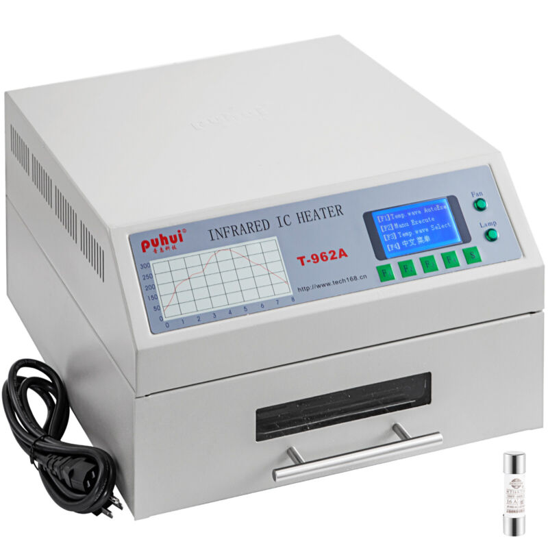 T-962A Reflow Oven Automatic Infrared Heater BGA SMD Soldering 300x320MM 1500W
