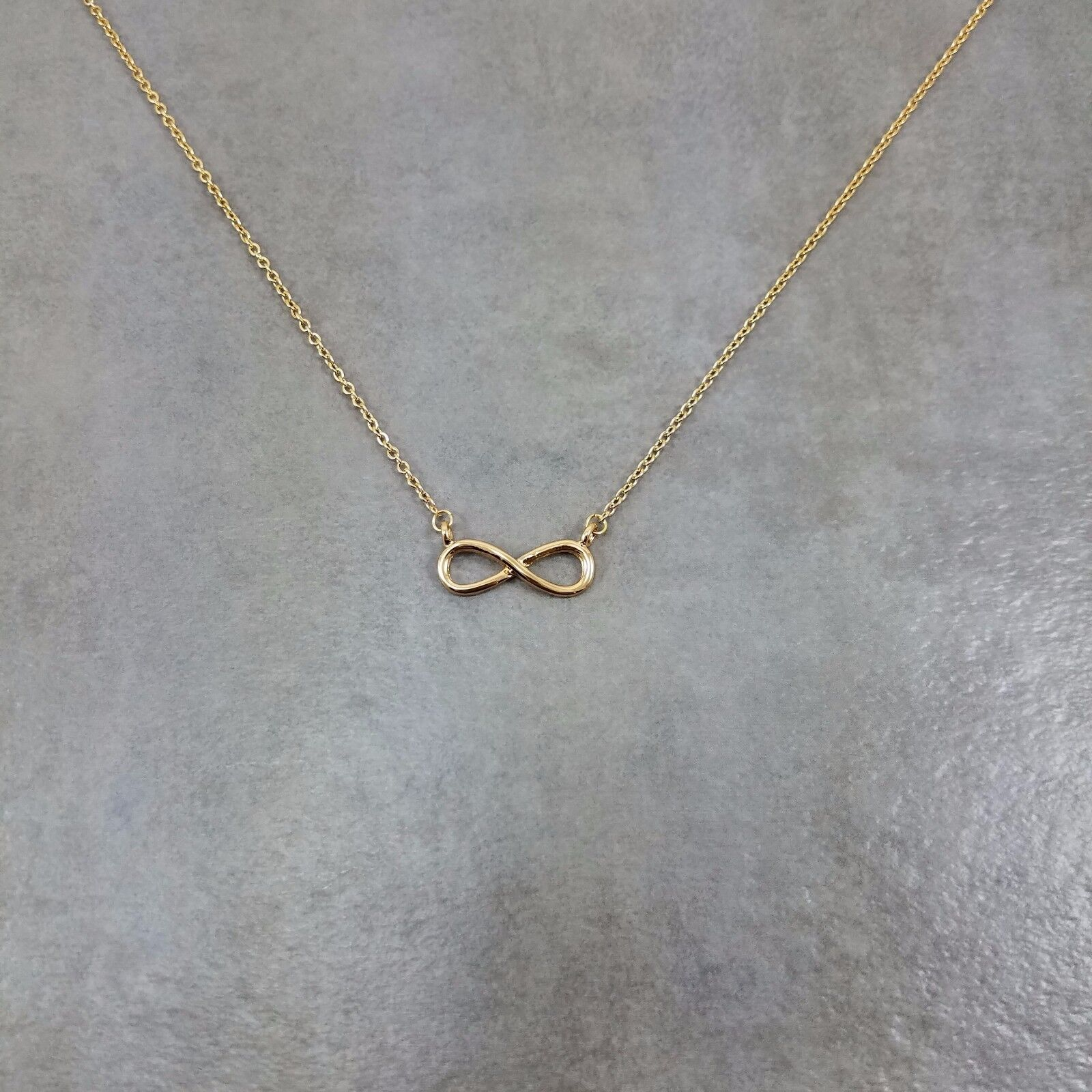 Infinity GOLD Plated Necklace Gift Limitless Forever Always