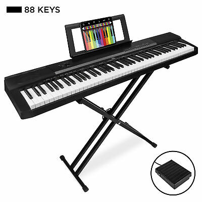 BCP 88-Key Digital Piano Set w/ Semi-Weighted Keys, Stand, Sustain Pedal