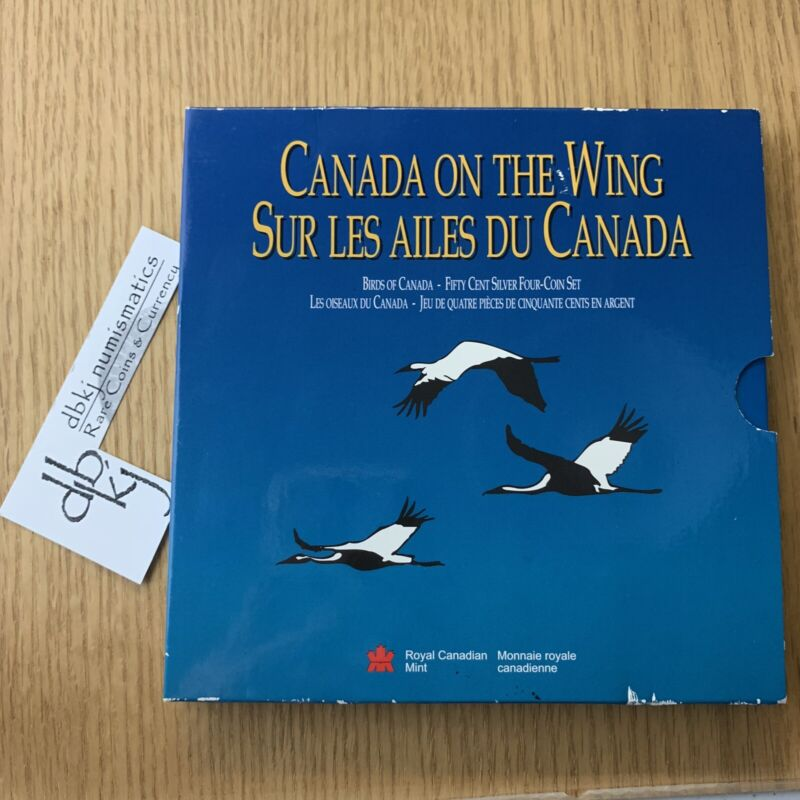 1995 Canada on the Wing 4 Coin Silver Set in Original Box