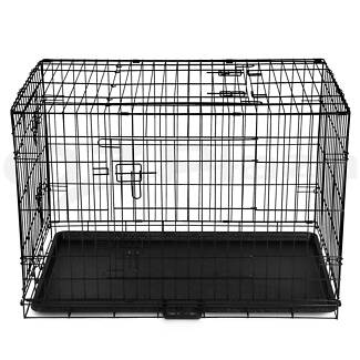Pet Dog Cage Collapsible Metal Crate Kennel Portable Puppy 36 '' Gosnells Gosnells Area Preview