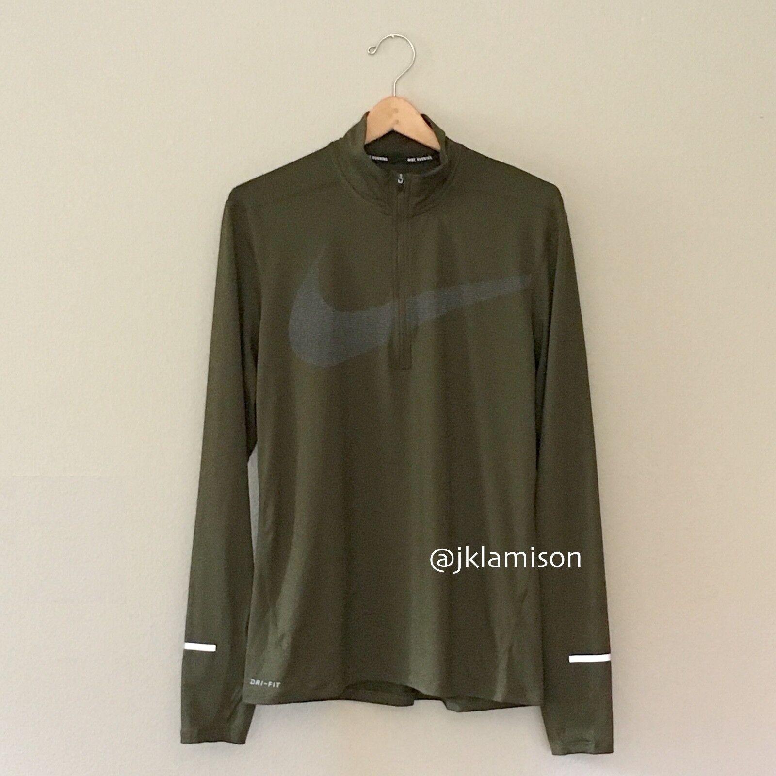 Nike Men's Therma Sphere Element Hybrid Half Zip Running Shirt Sz S M AO2617 471