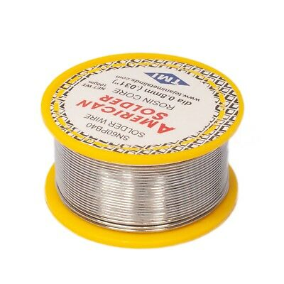 6040 Tinlead Flux 2.0 0.8mm Rosin Flux Solder Wire Roll 100 Gms