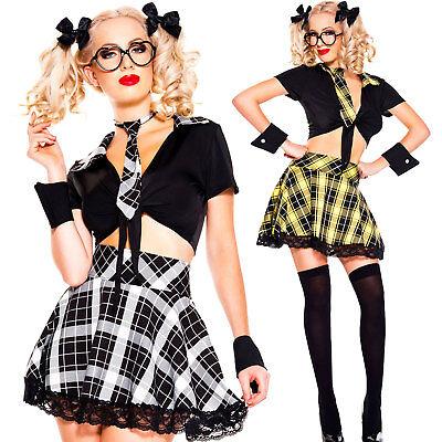 Kostüm Frau Karnevalkleid Schülerin Kleid Verkleidung Halloween DL-2152