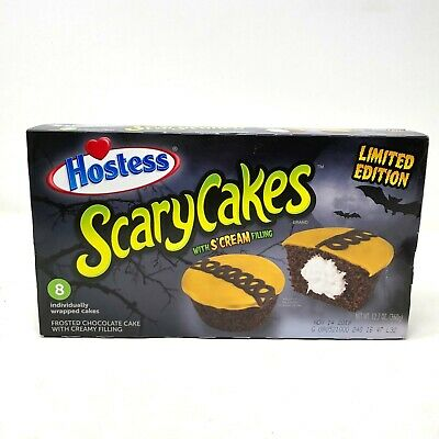 Halloween Cakes Cupcakes (Hostess Scary Cakes cupcakes Halloween S'Cream Filling Limited)