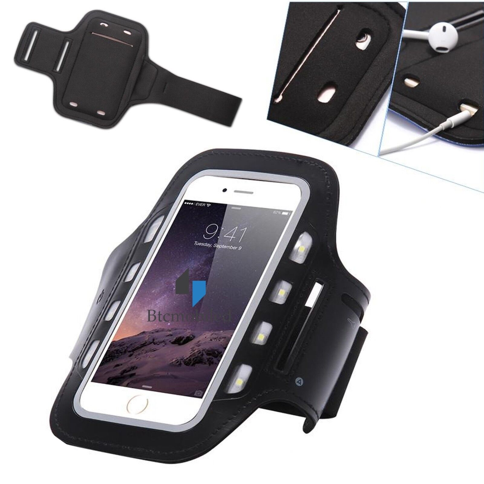 1A LED Licht  Joggen Armband Sport Fitness Tasche Für Sony Xperia X Compact