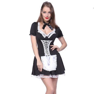 Französisch Zimmermädchen Dienstmädchen Maid Zofe Kostüm - Verkleidungen Kostüme