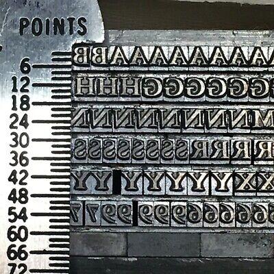 Caslon 8 Pt - Letterpress Type - Vintage Printers Metal Lead Printing Sorts