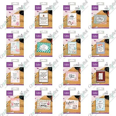 NEW Crafters Companion Everyday Quirky Sentiment Clear Stamp - funny - FREE P&P