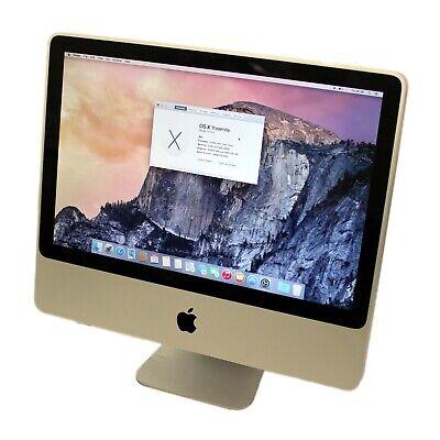 "Apple iMac 9,1 A1224 20"" Core 2 Duo/4GB/320GB/OSX 10.10 - Tested - B Grade"