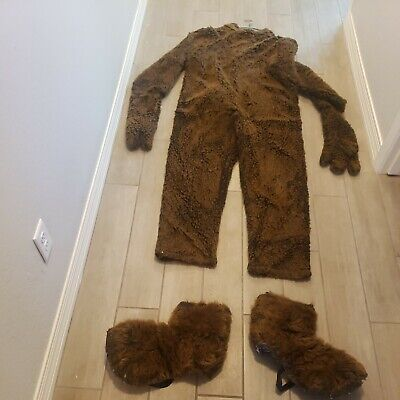 Spats, Gaiters, Puttees – Vintage Shoes Covers Adult Large Xl Brown Bear Suit Mitts Spats sasquatch big foot  $69.99 AT vintagedancer.com