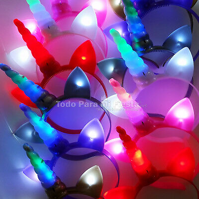 Light Up Unicorn Headbands Flashing Unicorn Party Favors Gift Unicornio Regalos](Flashing Headbands)