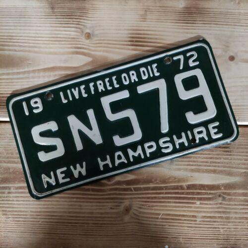 USA Nummernschild/Kennzeichen/license plate/US car/Harley * New Hampshire 1972 *