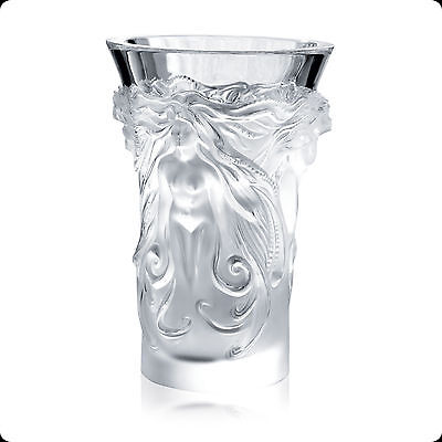 GENUINE SIGNED HANDCRAFTED LALIQUE FANTASIA VASE BRAND NEW IN BOX 1262600