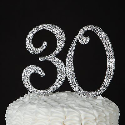 30 Cake Topper for 30th Birthday or Anniversary](30th Birthday Cake Toppers)