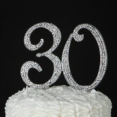 30 Cake Topper for 30th Birthday or Anniversary - 30th Birthday Cake Toppers