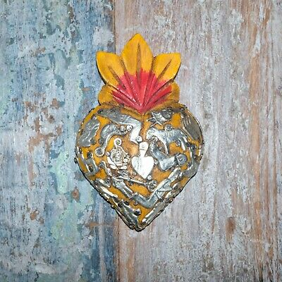Mexican Milagro Heart Decoration Mini N