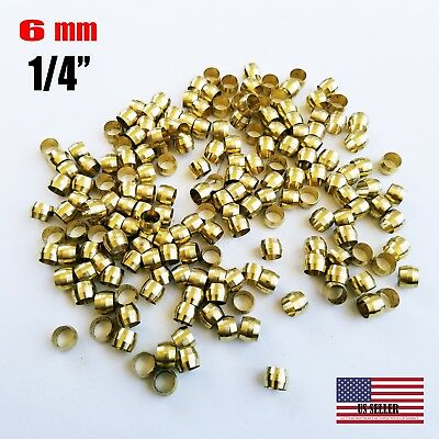 50 Pcs - Brass Compression Sleeve Tube Od 14 6 Mm