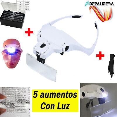 Gafas Con Lupa Luz Led Aumentos Soldar Leer Relojero Joyero Reparar Electronica