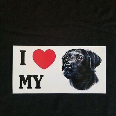 3 new I love my Black Lab dog stickers Labrador decals  ()
