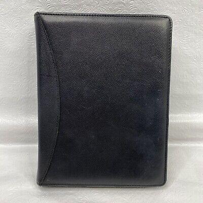 Day Runner Black Genuine Leather Zip Close 3-ring Planner Organizer Binder