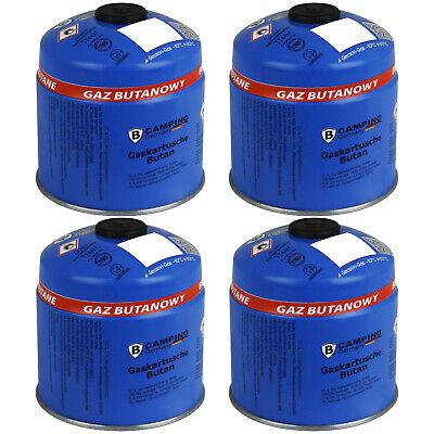 4x Gaskartusche Butan Gas Gasflasche Schraubventil Schraubkartusche Camping 500g